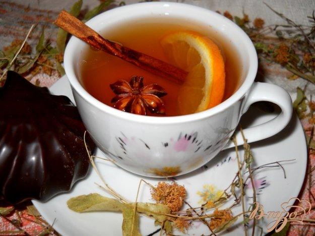 """Рецепт Травяной чай """"Здоровье"""" с имбирем и корицей"""