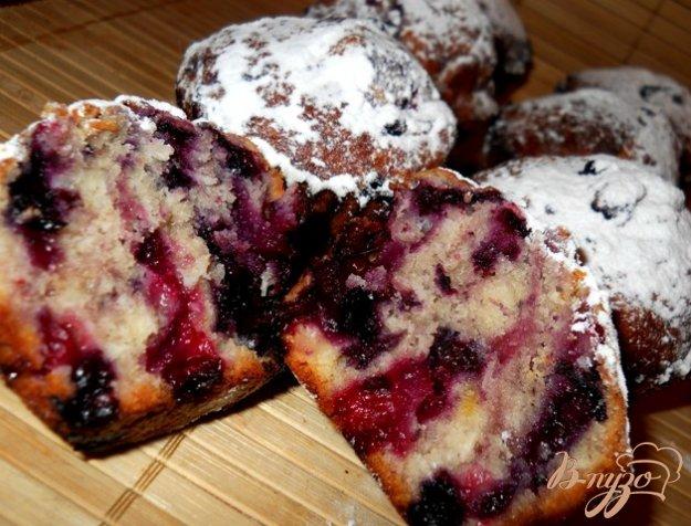 Рецепт Кокосовые кексы с ягодами и белым шоколадом