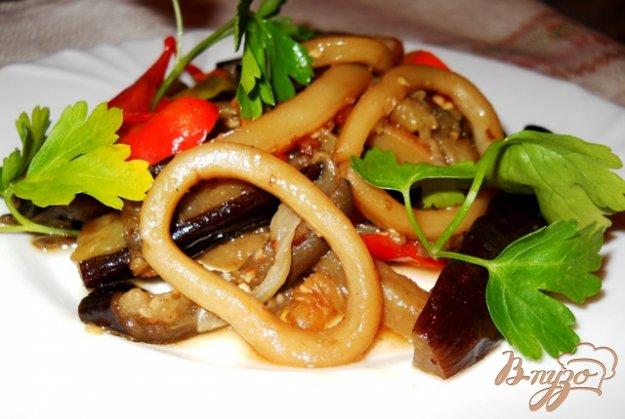 Рецепт Кальмары тушенные с овощами