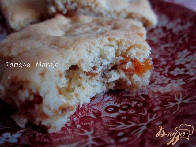 Фото приготовление рецепта: Рассыпчатое печенье с сухофруктами шаг №11
