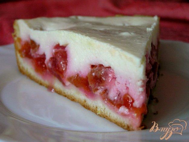 Рецепт Творожно-ванильный пирог со сливами