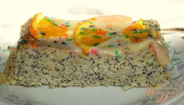 Рецепт Cметанный кекс с маком и белым цитрусовым ганашем