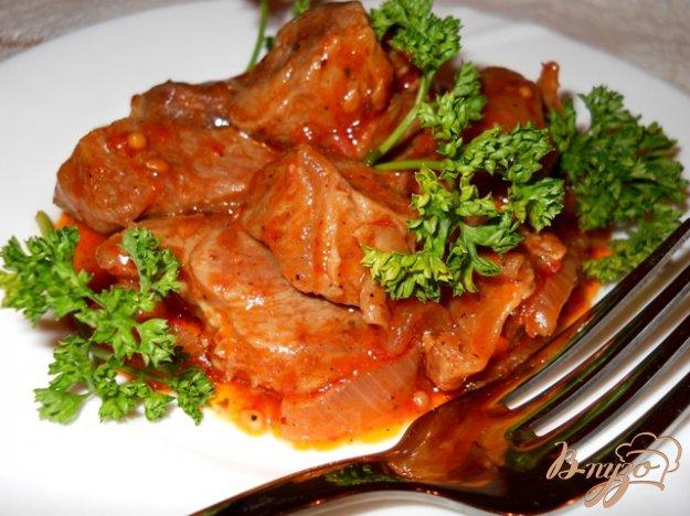 Рецепт Гуляш телячий в томатном соусе