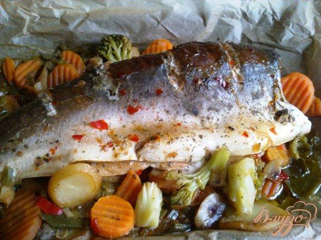 Рецепт Кижуч запеченный в пергаменте с овощами