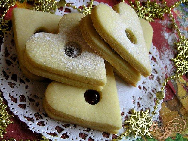 Рецепт Праздничное печенье с конфитюром