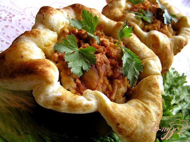 Рецепт Порционные пироги с рыбой и нутом
