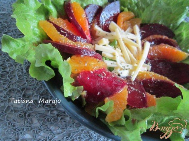 Рецепт Свекольный салат с дольками апельсина