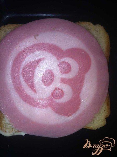 Бутерброд праздничный на завтрак.