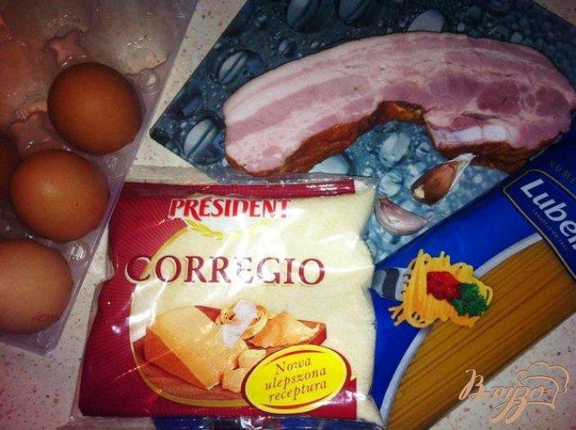 Фото приготовление рецепта: Паста а ля карбонара шаг №1