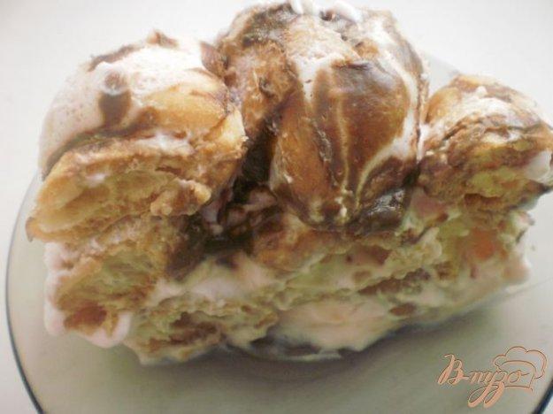 фото рецепта: Воздушный торт «Дамские пальчики»
