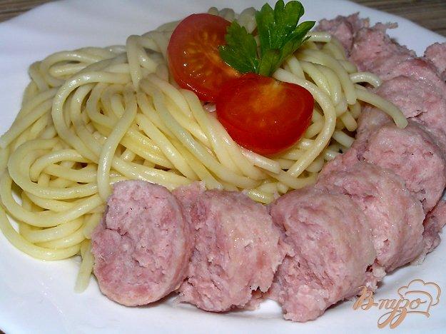 Рецепт Запеченные купаты со спагетти