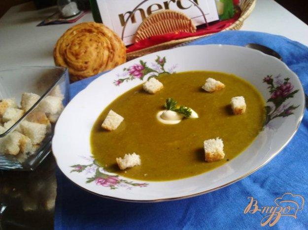 фото рецепта: Суп-пюре из чечевицы с крутонами.