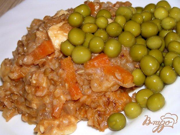 Рецепт Гречка с курицей в сливках