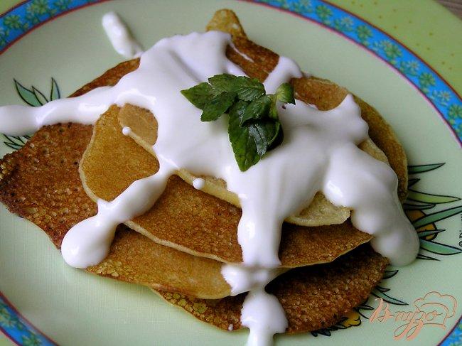 Фото приготовление рецепта: Кукурузные оладьи к завтраку шаг №7