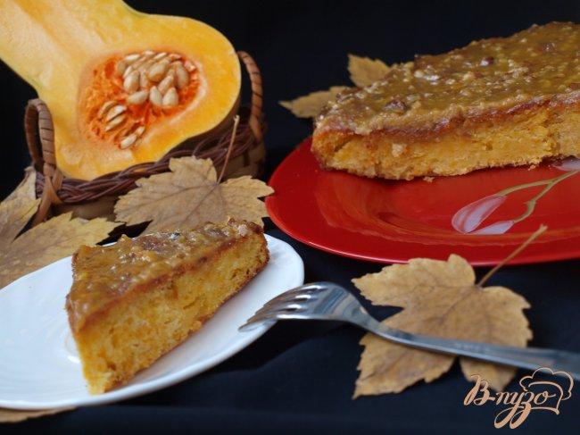Фото приготовление рецепта: Тыквенный пирог с ириской шаг №5