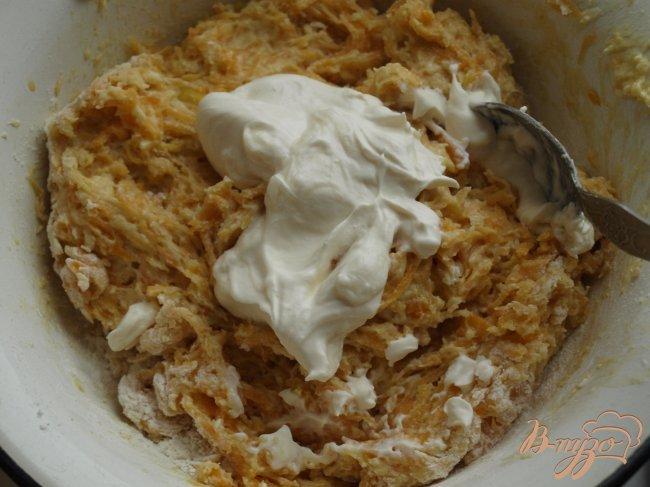Фото приготовление рецепта: Тыквенный пирог с ириской шаг №2