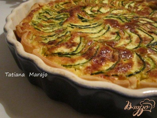 фото рецепта: Открытый кабачковый пирог