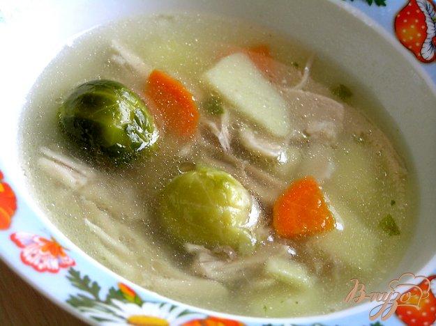 фото рецепта: Куриный суп с брюссельской капустой