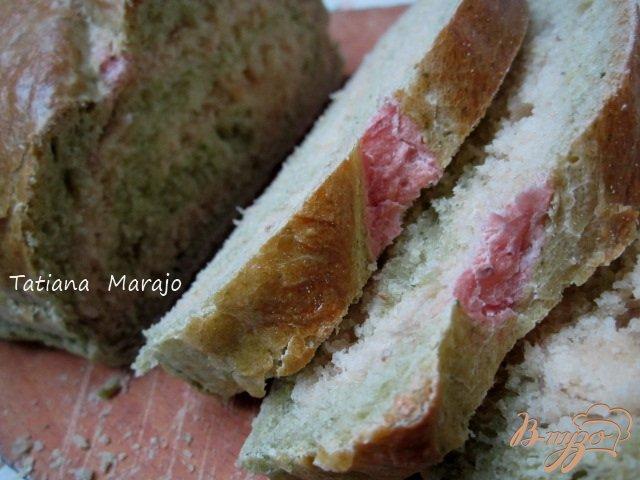 Фото приготовление рецепта: Хлеб со шпинатом и свеклой шаг №7