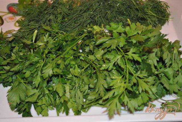 Фото приготовление рецепта: Заморозить зелень на зиму шаг №1