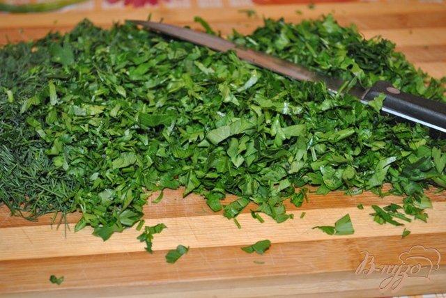 Фото приготовление рецепта: Заморозить зелень на зиму шаг №2