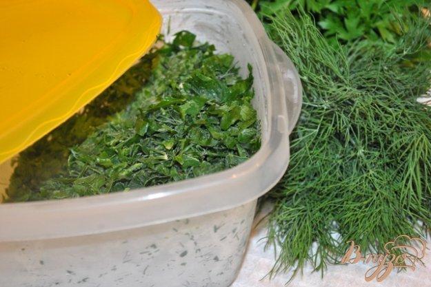 фото рецепта: Заморозить зелень на зиму