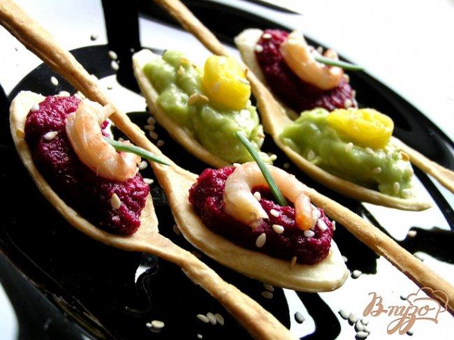 Фото приготовление рецепта: Вкусные ложки: соленые и сладкие (постные) шаг №9
