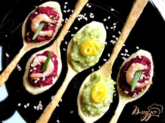 Фото приготовление рецепта: Вкусные ложки: соленые и сладкие (постные) шаг №8