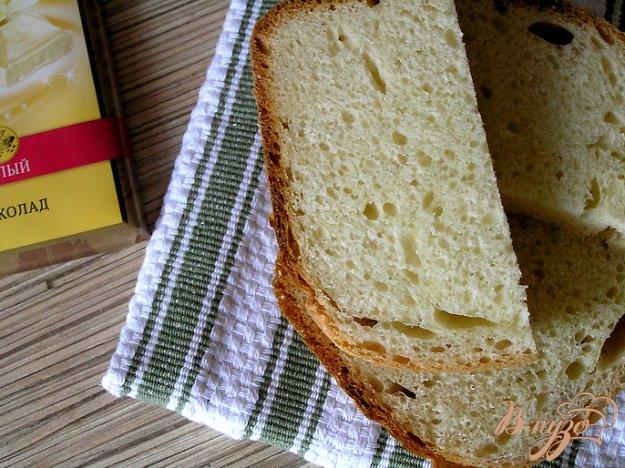 Рецепт Молочный хлеб с белым шоколадом