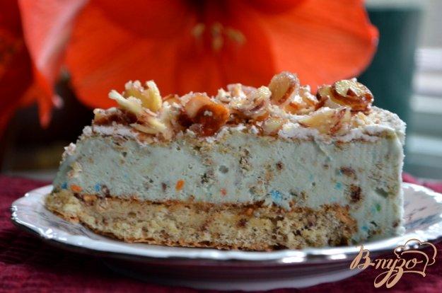 Рецепт Миндальный хрустящий торт-мороженое