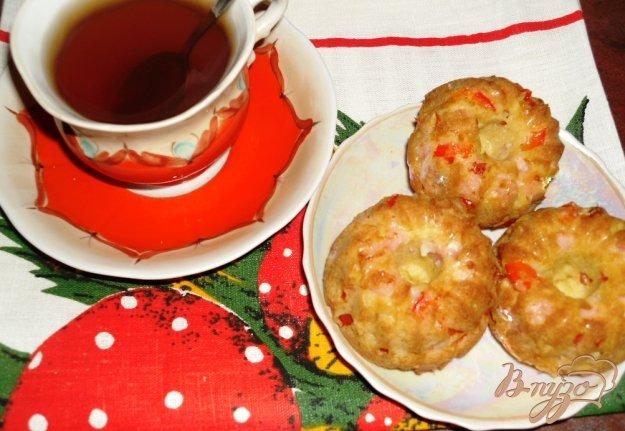Рецепт Закусочные кексы с ветчиной и перцем