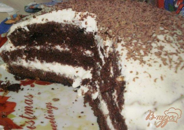 Рецепт Бисквитный торт с черносливом и орехами