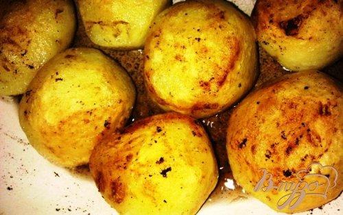 Картофель с чесноком.