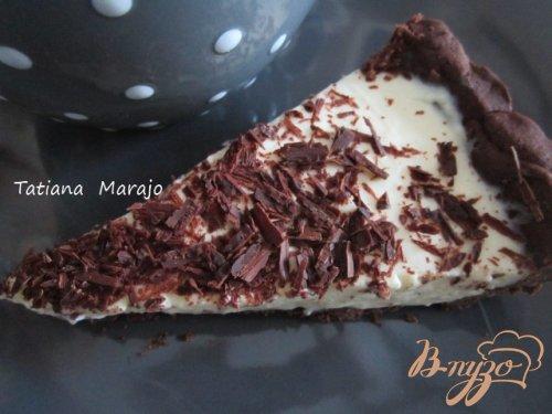 Шоколадный тарт с кремом из маскарпоне