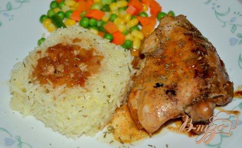 Курица с медово-пивным соусе