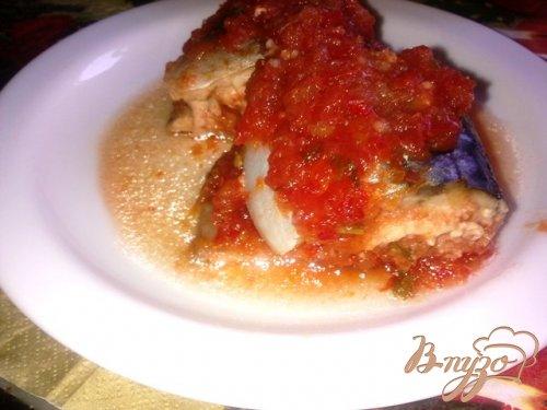 Скумбрия запеченная в томатном маринаде.
