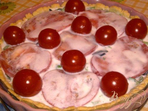 Закусочный пирог с помидорами и сыром фета