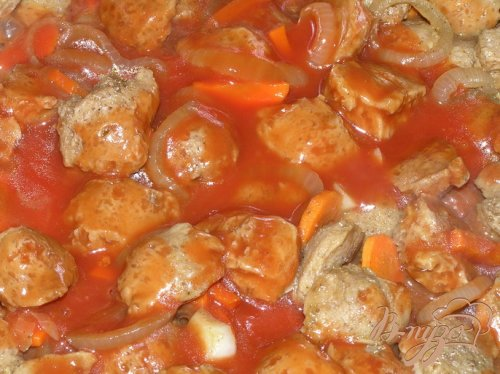 Соевое мясо по-индийски