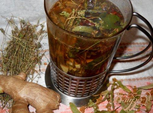 """Травяной чай """"Здоровье"""" с имбирем и корицей"""