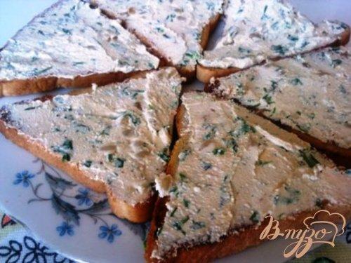 Бутерброды с форелью и сливочным сыром