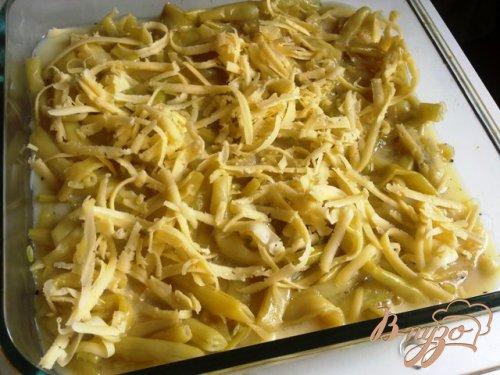 Омлет со спаржевой фасолью и сыром