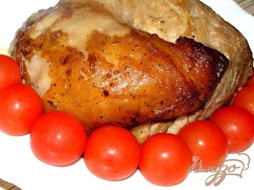 Запеченная свинина в горчичном соусе
