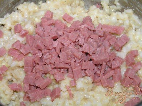 Рисовые котлетки с ветчиной