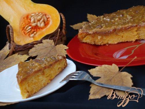 Тыквенный пирог с ириской
