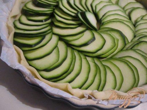 Открытый кабачковый пирог