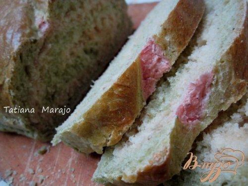 Хлеб со шпинатом и свеклой