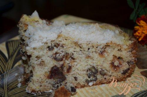 Кекс с финиками и орехами