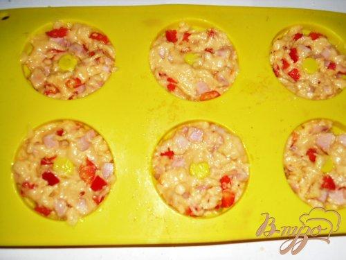 Закусочные кексы с ветчиной и перцем