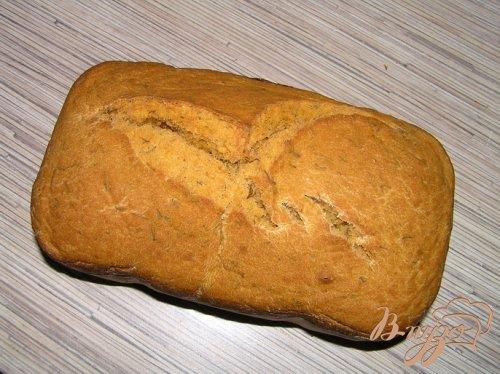 Томатный хлеб с тмином и укропом