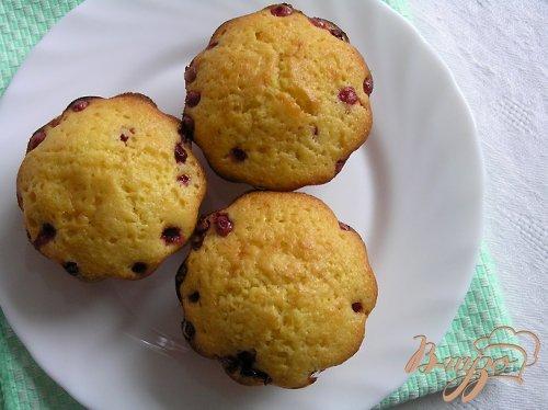 Апельсиновые кексы с брусникой